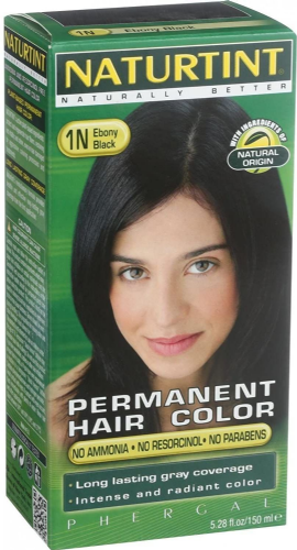 NATURTINT Permanent Hair Colourants Ebony Black 1N